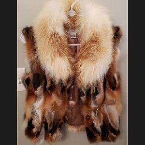 Alberta Makali 100% fox fur vest